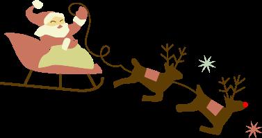 Mikulás és Rudolf munkában