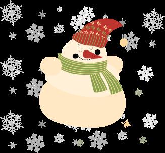 Hóember - karácsonyi illusztráció