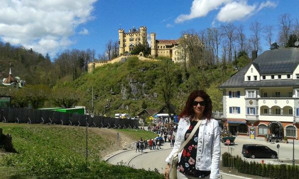 Neuschwanstein kilátás és Anikó