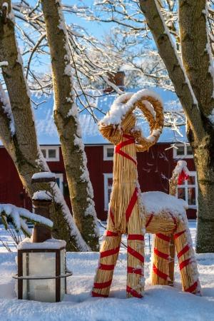 karácsonyi dísz Svédországban